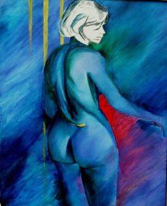 110-Malice bleue   huile  102X75