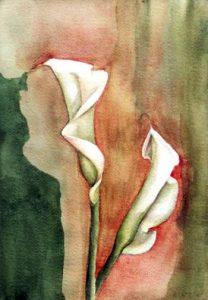211-Calas XI aquarelle 36x25