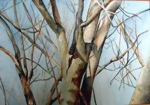 303-Lumiere d'hiver aquarelle 50x40